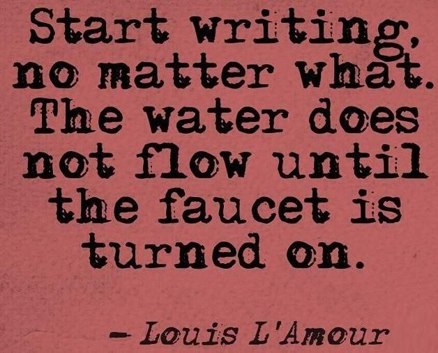 Start #writing no matter what!