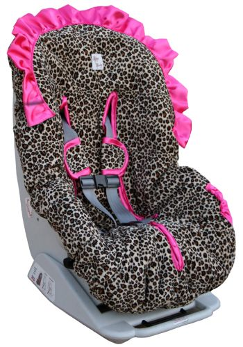 leopard print baby car seat covers | Infant Head And Neck Support Pillow For Baby Car Seat Cheetah Minky