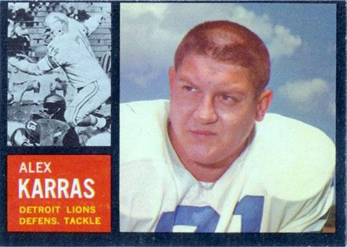 Most Valuable Football Cards Topps | Football Friday: A Gallery of Alex Karras Detroit Lions Football Cards ...