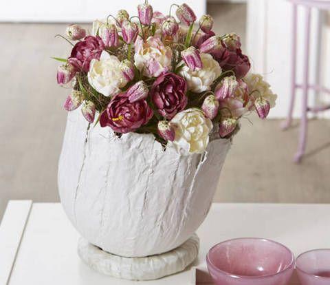 BLOG FLORYSTYCZNY: Zimowa kompozycja z kwiatów cebulkowych