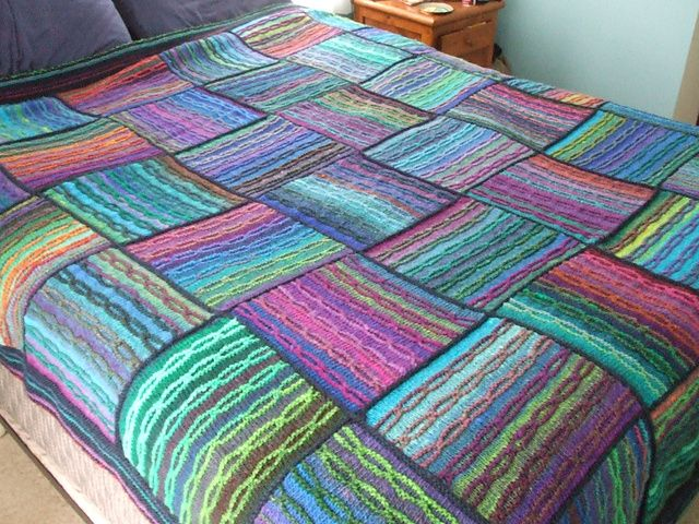 Knit Noro Blanket