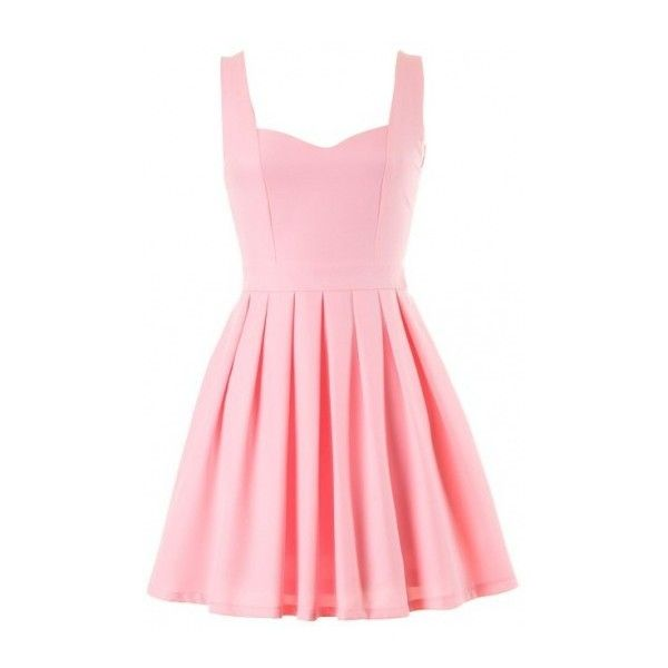 light pink heart cutout skater dress (39 CAD) ❤ liked on Polyvore featuring dresses, vestidos, light pink dress, red day dress, women dresses, henley dress and red heart cut out dress