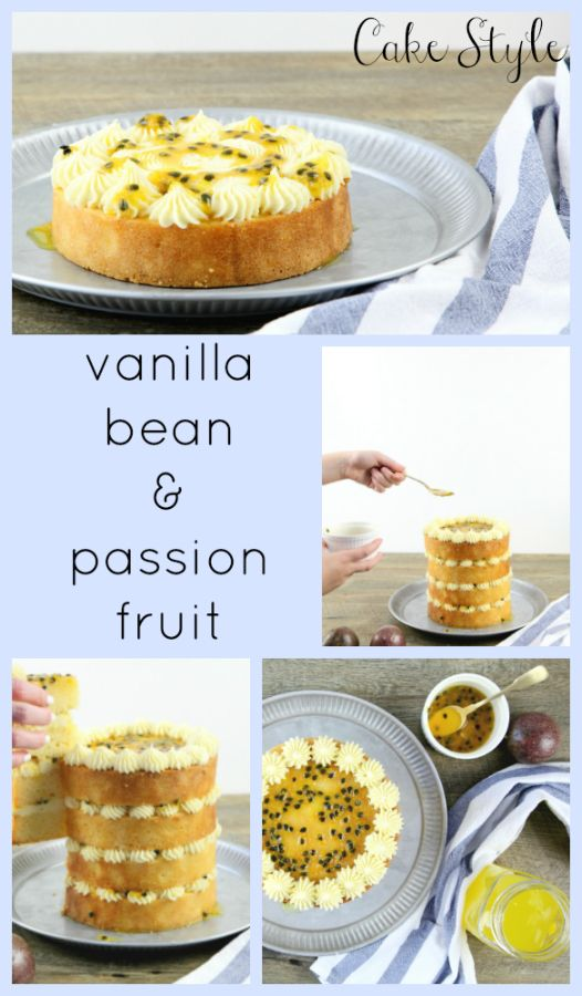 Not so plain vanilla cake. With passionfruit.