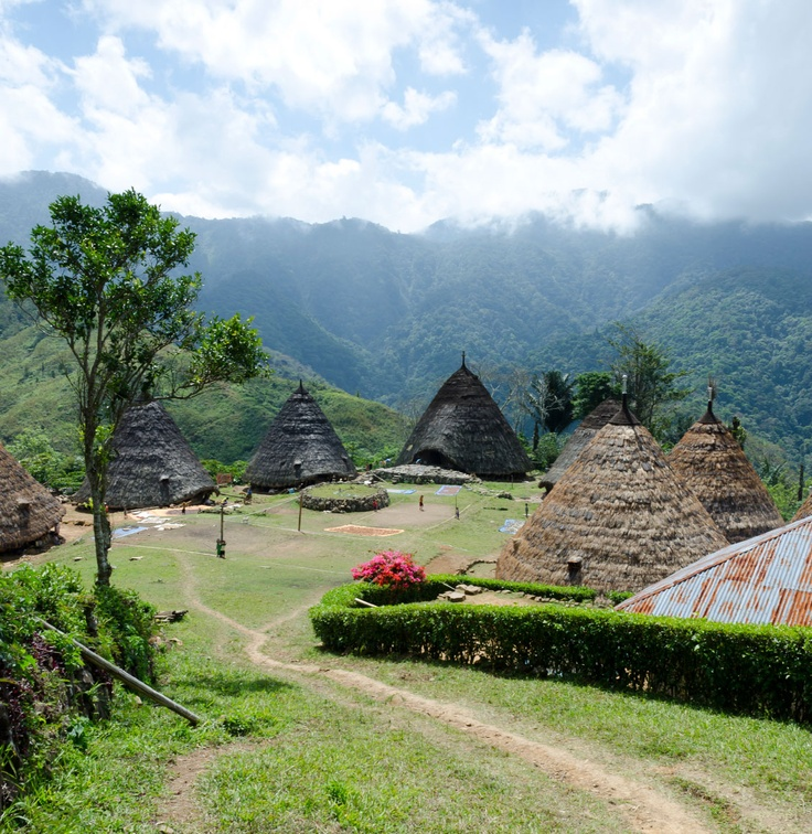 Village of Wae Rebo in the highlands of Flores, Indonesia
