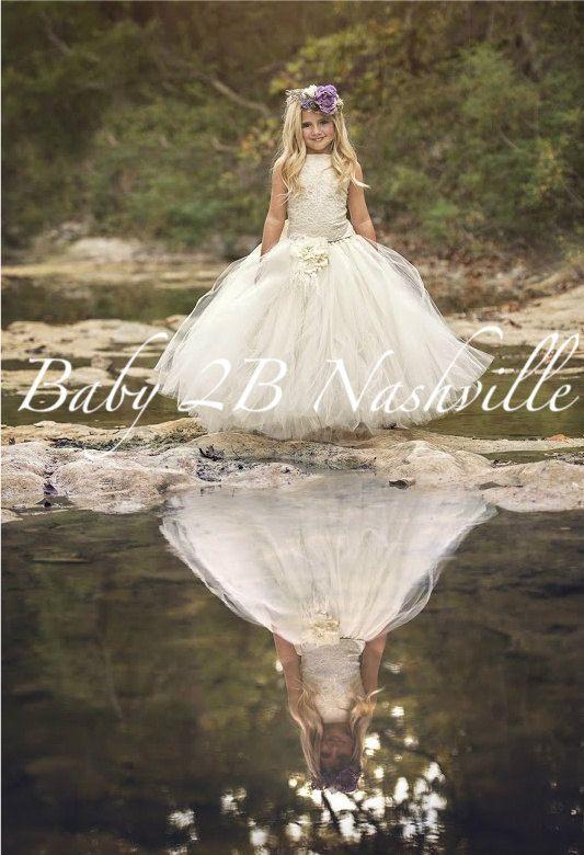 Vintage Ivory Dress Sequin Dress Lace Dress Flower Girl Dress Tulle Dress Party Dress Baby Toddler Tutu Dress Girls Dress Wedding Dress by baby2bnashville. Explore more products on http://baby2bnashville.etsy.com