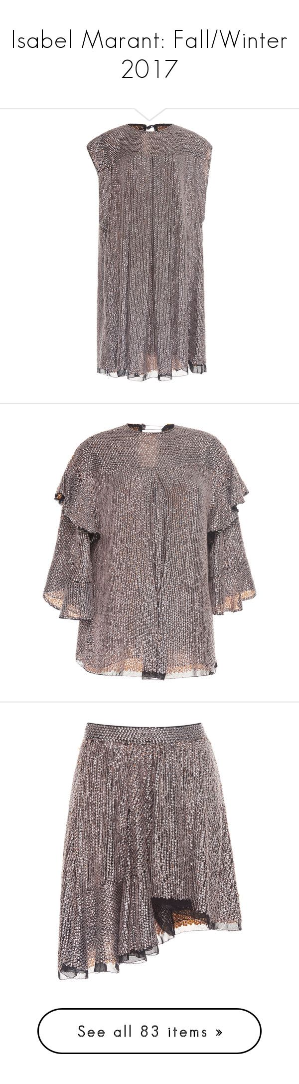 """""""Isabel Marant: Fall/Winter 2017"""" by livnd ❤ liked on Polyvore featuring isabelmarant, fallwinter2017, livndfashion, livndisabelmarant, dresses, silver, cocktail shift dress, silver dress, silver sequin cocktail dress and silver shift dress"""