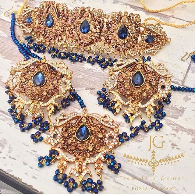 Such a beautiful collection! The Sapphire Nawaab Choker Set exclusively by…
