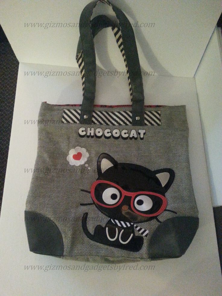 Beautiful Sanrio tote bag. Chococat model. Name brand of very good quality. Very cute. www.gizmosandgadgetsbyfred.com