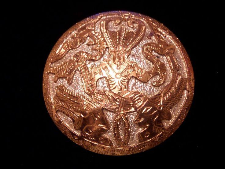 VINTAGE REX AZTEC PIN BROOCH PENDANT HENCHO EN MEXICO BROOCH 925 38.1 GRAMS #REX