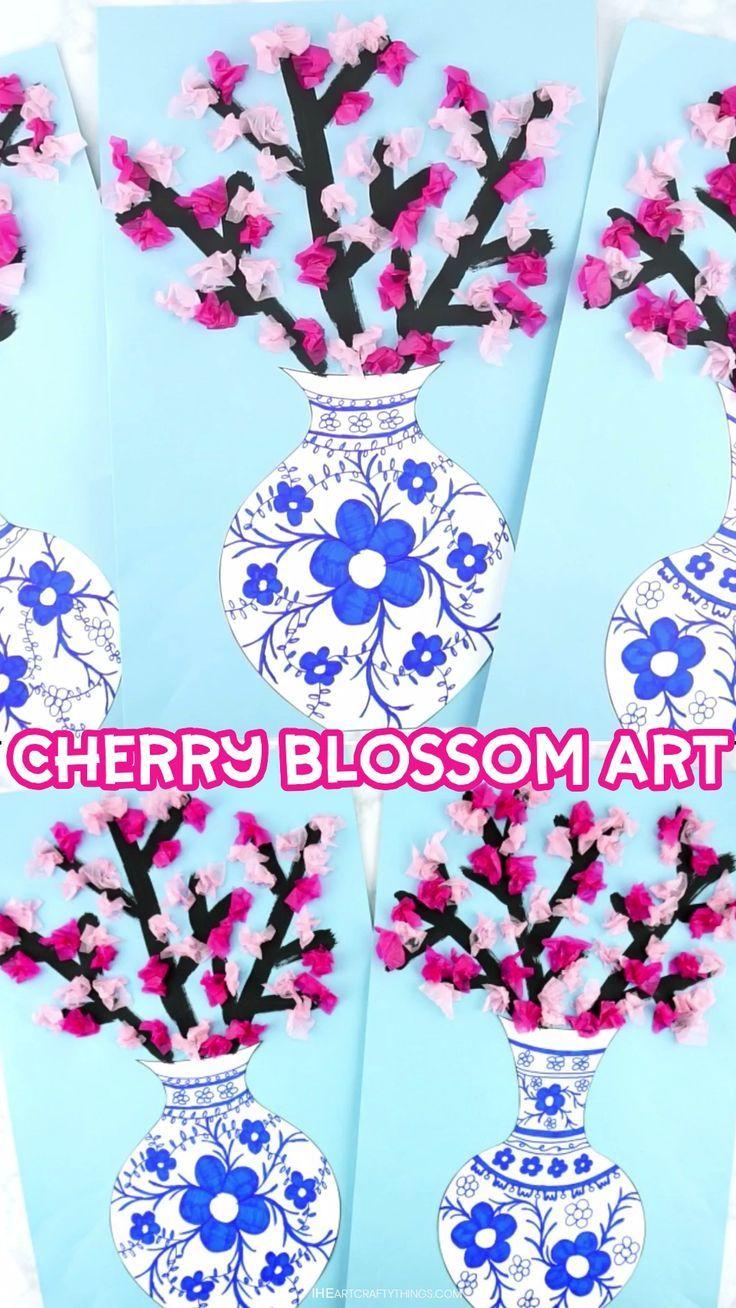 Wie man ein Kirschblüten-Kunstprojekt macht
