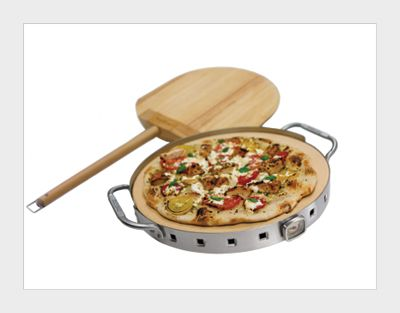 Pizza Stone Grill Set -  Make authentic pizza in your own backyard.