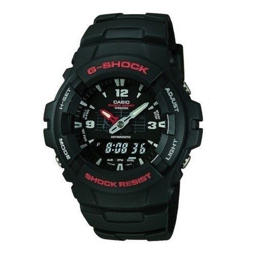Mens Watches Casio G100-1BV G-Shock Classic Ana-Digi