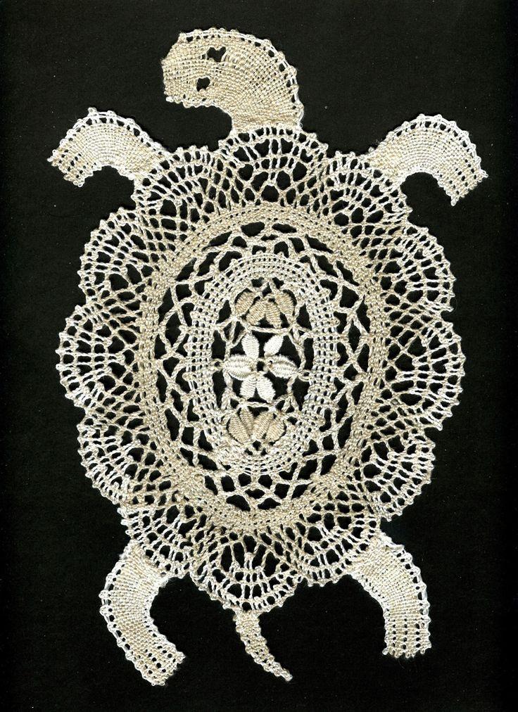 черепаха салфетка кружево вязание крючком