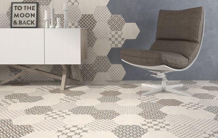 27 best images about carrelage hexagonal on pinterest. Black Bedroom Furniture Sets. Home Design Ideas
