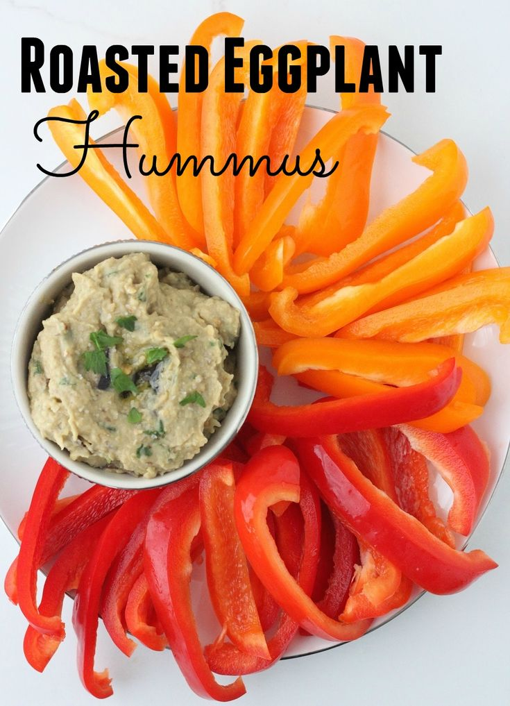 Roasted Eggplant Hummus is a flavorful twist on a favorite snack ...