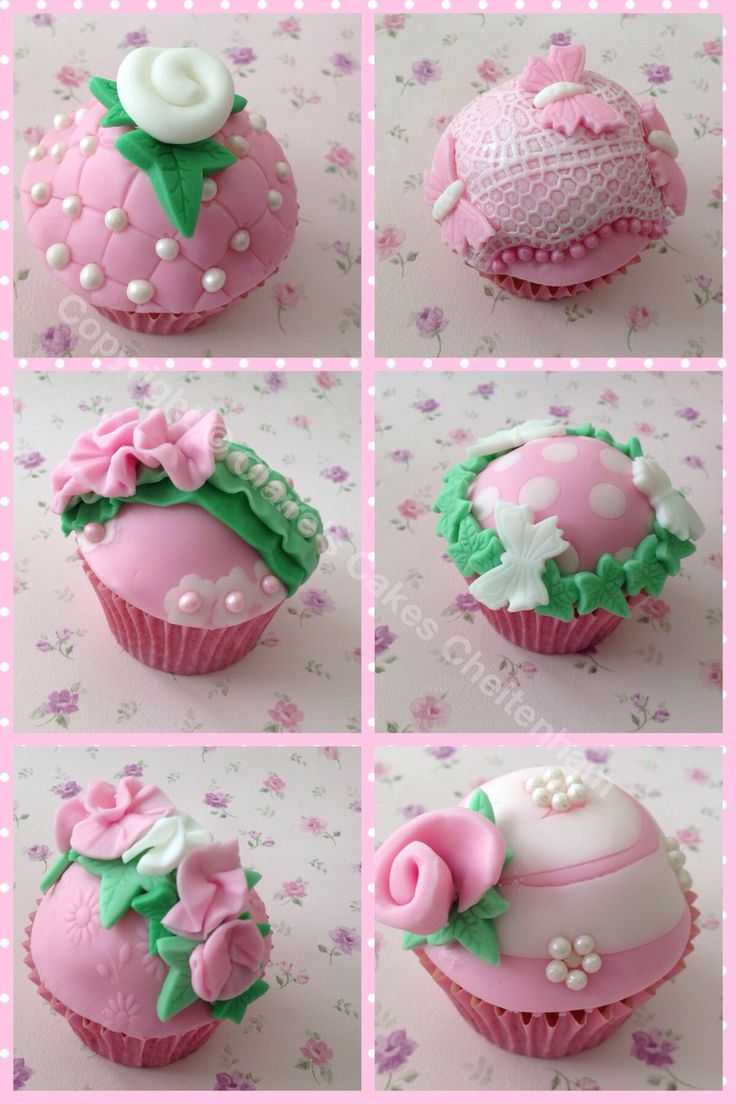 Rose themed cupcakes