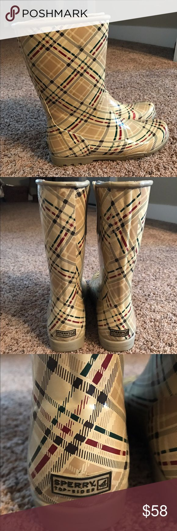 Sorry rain boots Plaid design Sperry Shoes Winter & Rain Boots