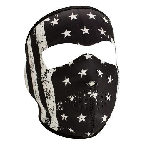 ZANheadgear Neoprene Full Mask Black-White Vintage Flag