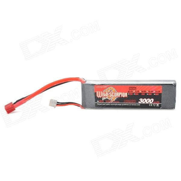 Brand: WILD SCORPION; Model: N/A; Quantity: 1 piece(s) per pack; Color: Red + black + silver; Compatible Model: Remote control aircraft / helicopter; Battery Type: Li-ion polymer; Voltage: 7.4 V; Marked Capacity: 3000 mAh; Actual Capacity: 3000 mAh; Packing List: 1 x Battery pack; http://j.mp/VIJAO9