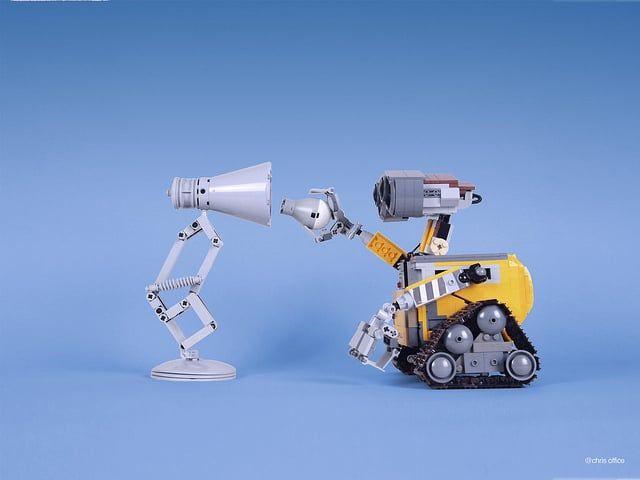 Cute Pixar Desk Lamp Made With Lego Micro Legos Lego