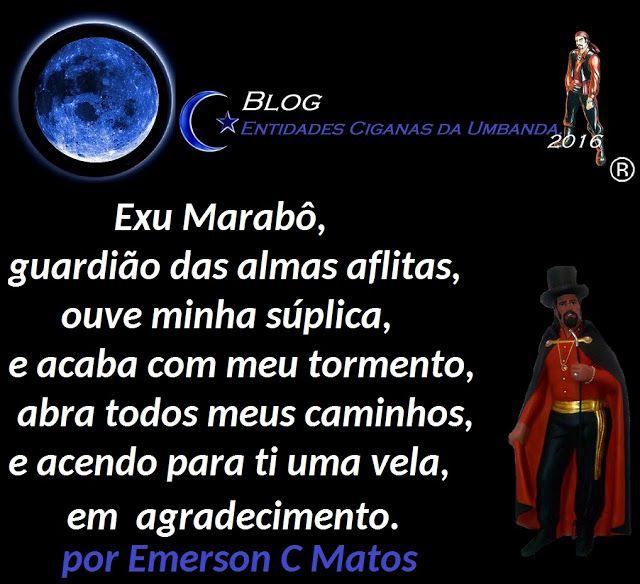 Entidades Ciganas da Umbanda (Clique Aqui) para entrar.: EM AGRADECIMENTO PARA EXU MARABÔ, POR EMERSON C MA...