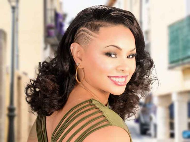 Natural Hairstyle With A Tapered Side And Curls From Earlisia Torrence