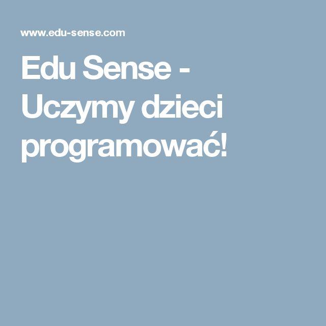 Edu Sense - Uczymy dzieci programować!