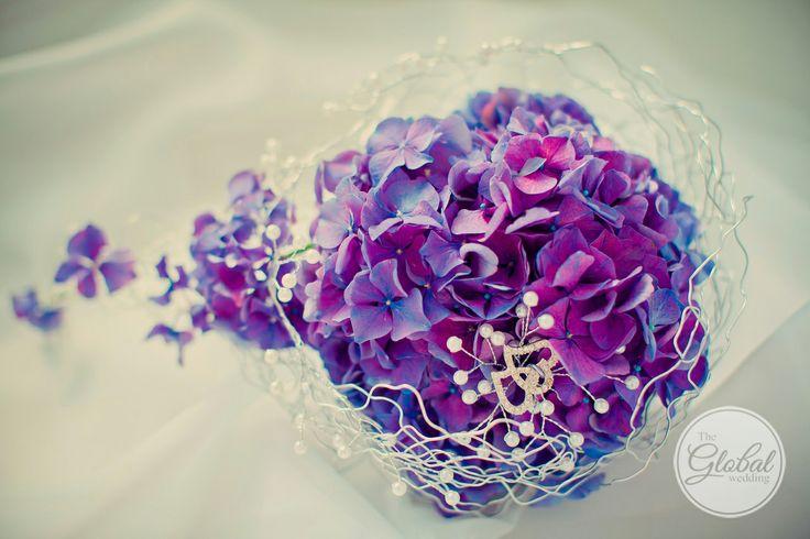Букет невесты. Wedding bouquet violet purple