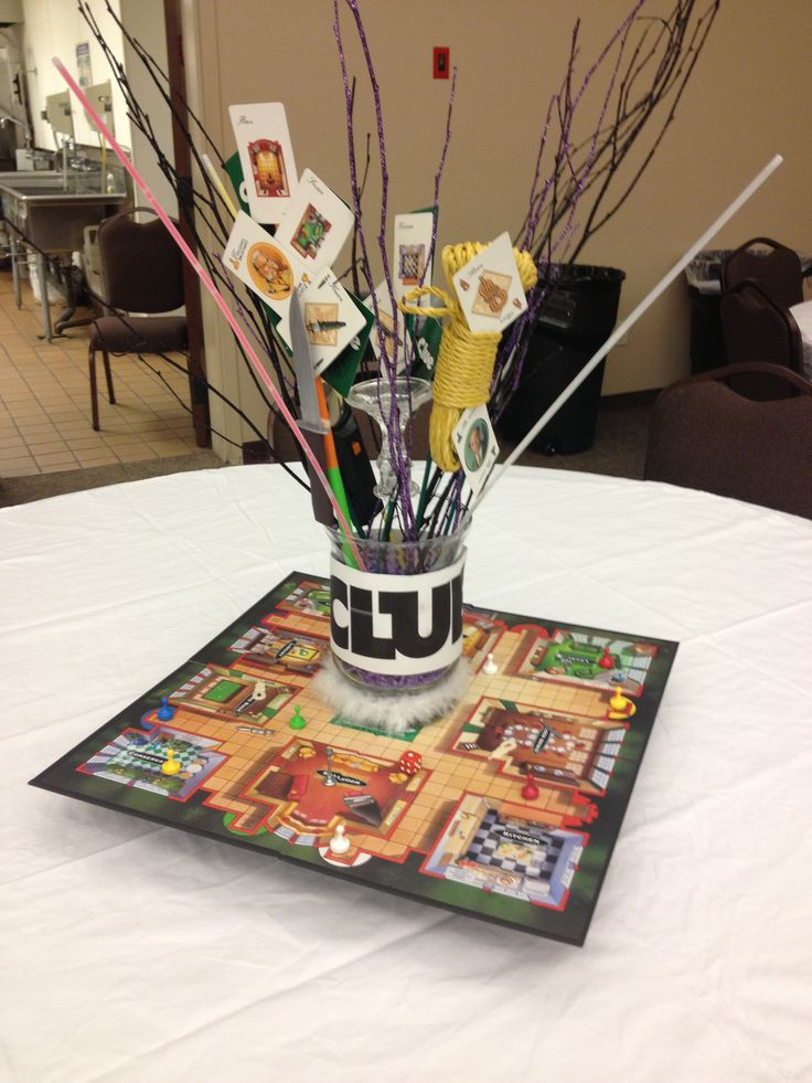 Centerpiece For Kitchen Table Game : Best ideas about clue themed parties on pinterest