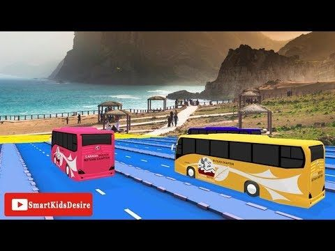 Big Bus race Rhymes animation | Bus Race Song -Bus Cartoons | Rhymes for...