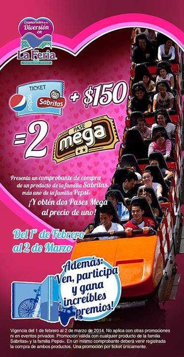 Promocion Feria de Chapultepec Sabritas Pepsi Promocion Feria de Chapultepec: Aprovecha esta increíble promoción que la Feria de Chapultepec para ti en esta ocasión. Donde tendrás la oportunidad de llevarte 2 megapases a un superprecio. Ve a la Feria de Chapultepec y presenta un comprobante de co... -> http://www.cuponofertas.com.mx/oferta/promocion-feria-de-chapultepec-sabritas-pepsi/