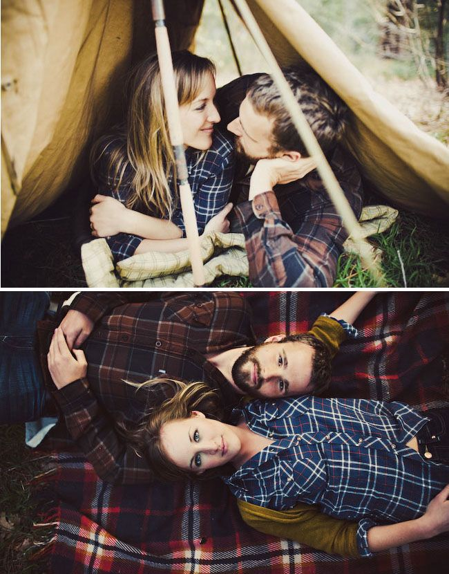 These engagement pics are so cute for the camping couple