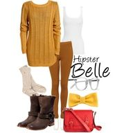 HIPSTER BELLE (DISNEY PRINCESS) easy Halloween idea