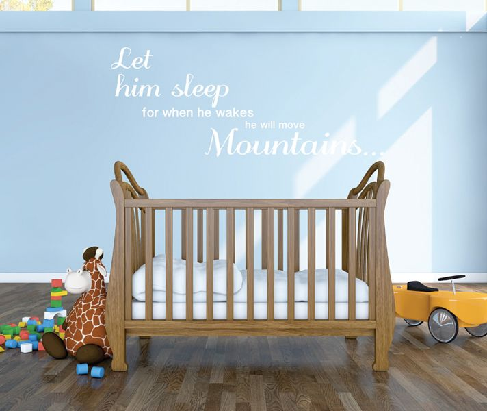 Stickaroo Wall Decals - Let Him Sleep