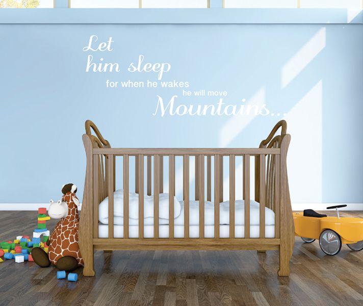 Stickaroo Wall Decals - Let Him Sleep