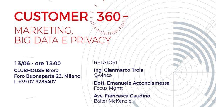 Il prossimo 13 giugno a Milano, Neureka sarà presente ad un evento organizzato da Qwince (nostro partner per la piattaforma di NeuroMarketing, Neuralya), Focus MGMT e Baker McLenzie: Customer 360. Marketing, Big Data e Privacy #Milano #evento #NeuroMarketing #Marketing #Customer #Privacy