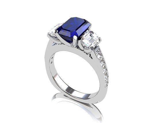 Diamond And Sapphire Wedding Ring 26 Beautiful Blue diamond engagement rings