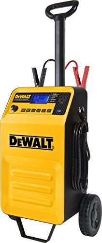 DEWALT DXAEC210 70 Amp Rolling Battery Charger with 210 Amp Engine Start and 2 Amp Maintainer. For product info go to:  https://www.caraccessoriesonlinemarket.com/dewalt-dxaec210-70-amp-rolling-battery-charger-with-210-amp-engine-start-and-2-amp-maintainer/