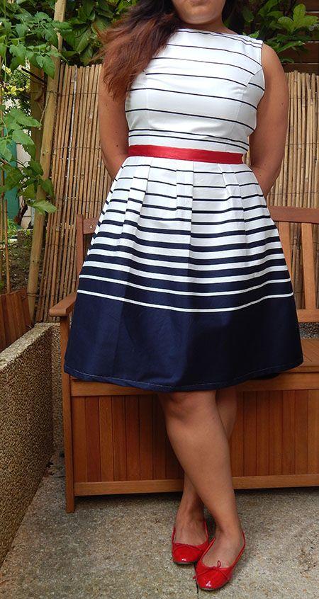 Couture - Une robe bleu blanc rouge pour la coupe du monde | Lagouagouache
