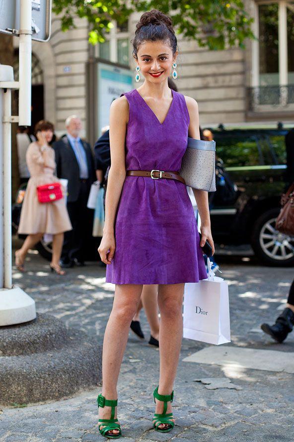Street Style Photoblog - Fashion Trends - Natalia Alaverdian, Paris - Love this unexpected color combo!