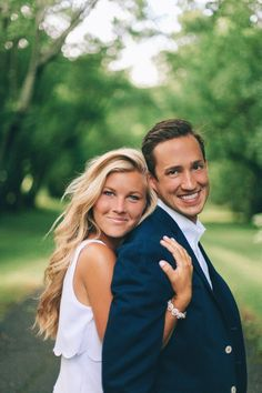 Nice pose for engagement photos. Photo by Tessa Barton Photography.