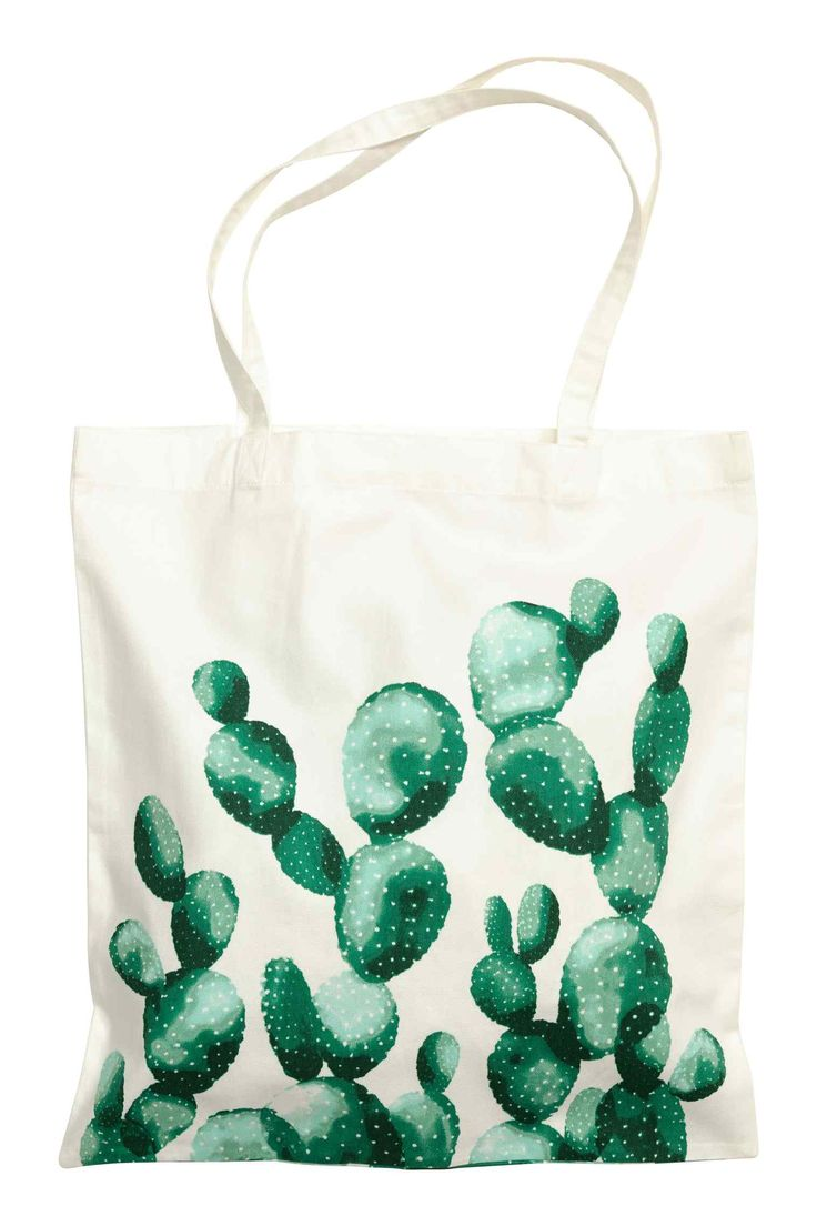 Lovely tote with a watercolor cactus.  | H&M