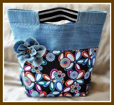 Denim bag with interesting details