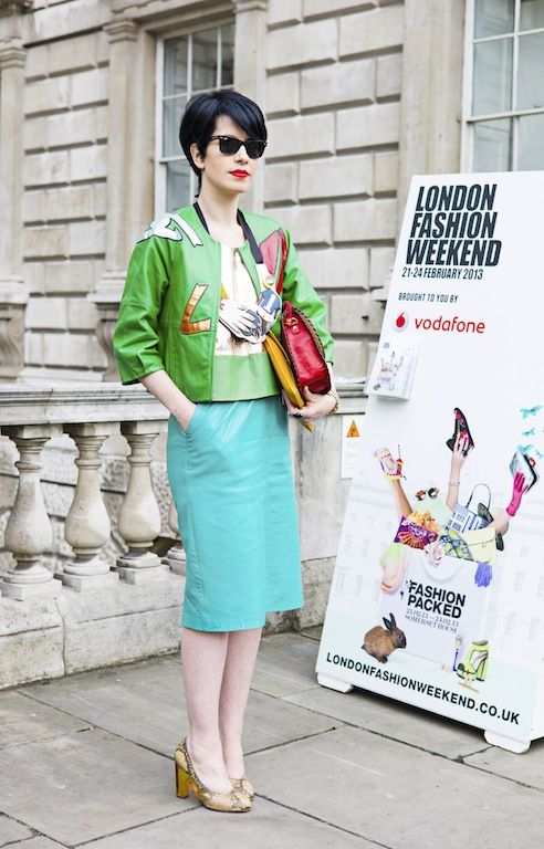 Annmarie O'Connor wearing #joannehynes #lfw #streetstyle