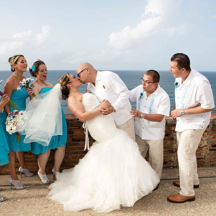 Swept away jasmine cesar guayabera wedding in san for Puerto rican wedding dress