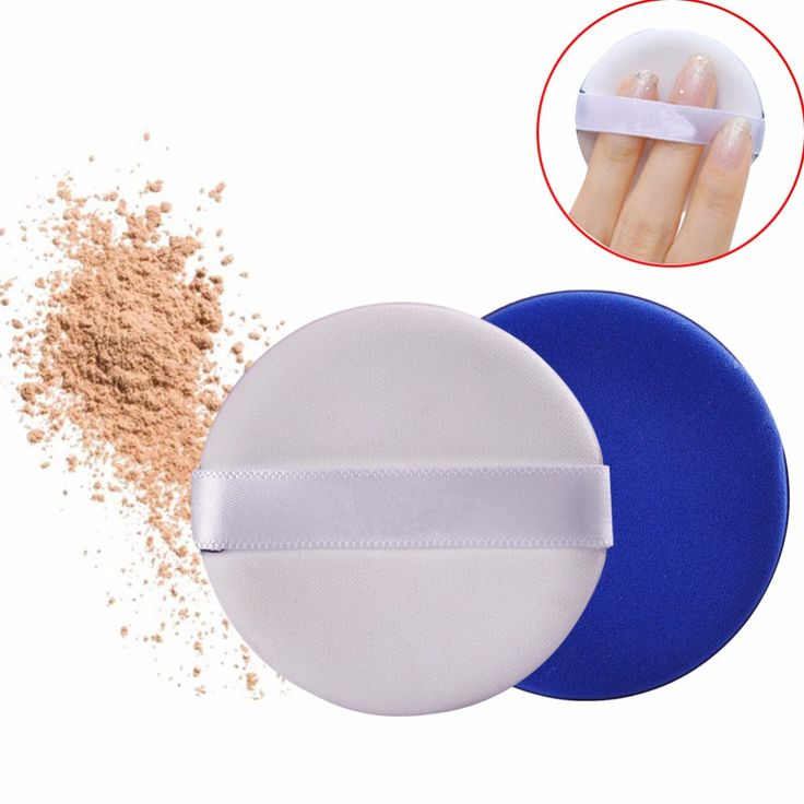 2pcs/Bag Compact Powder Puff for Concealer/Air Cushion BB Cream Makeup Puff Cosmetic Sponge Replacement