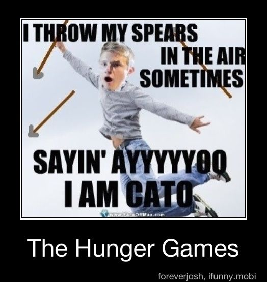 Cato is sword guy, just like MARVEL is spear guy and Clove knife girl... Duh. Oh... Idk.