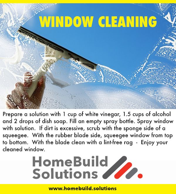 Tips - How to clean your window by www.homebuild.solutions
