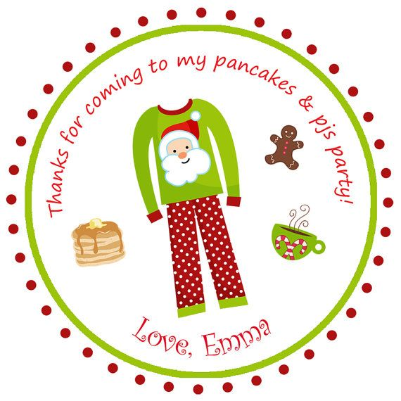 Pancakes and Pajamas Party Sticker Pancakes by TheButterflyPress