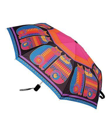 Look at this #zulilyfind! Pink Rainbow Cat Cousins Compact Umbrella #zulilyfinds